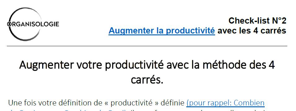 Productivité: définition