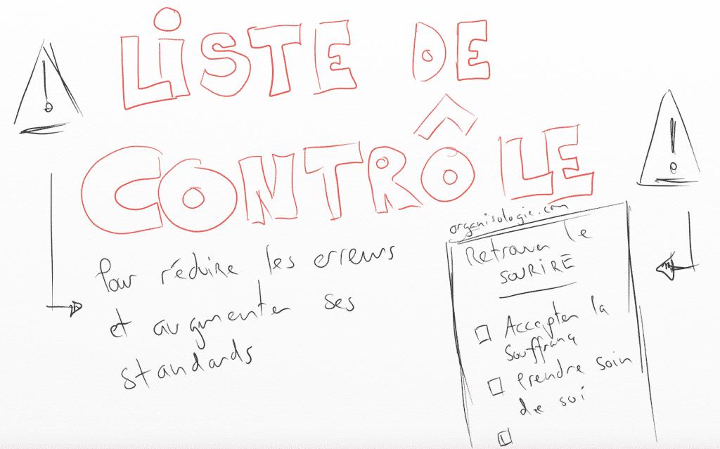 Liste de contrôle de tâches