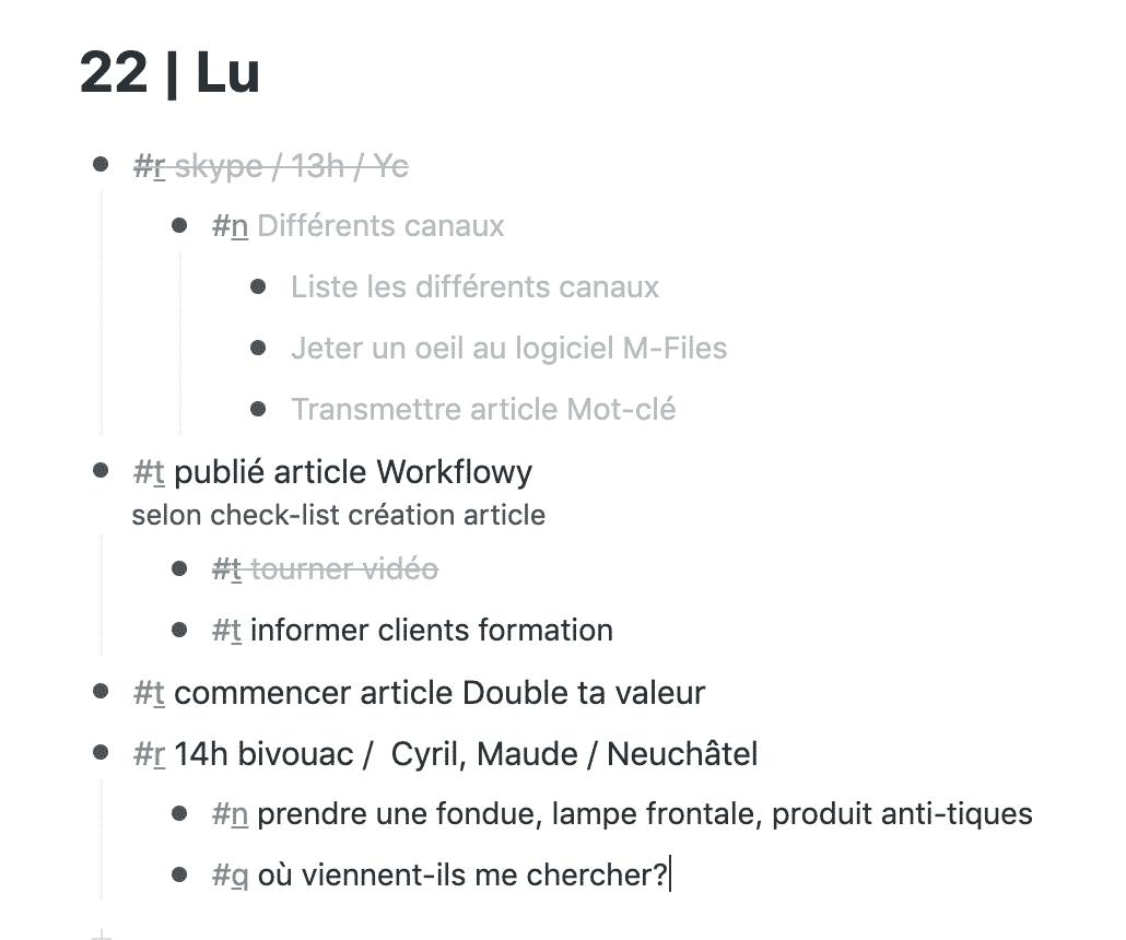 Workflowy niveau
