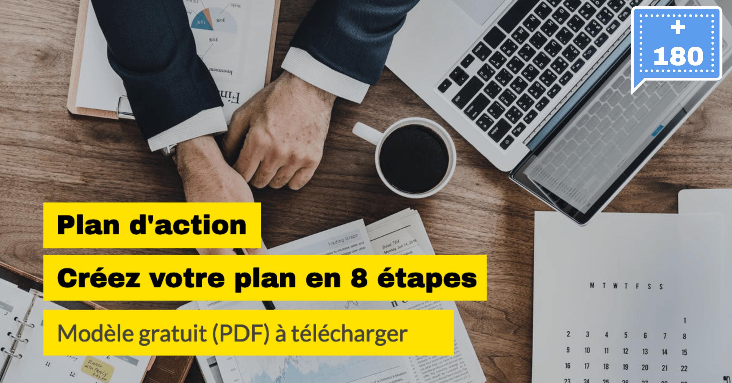 Plan d'action modèle PDF à télécharger