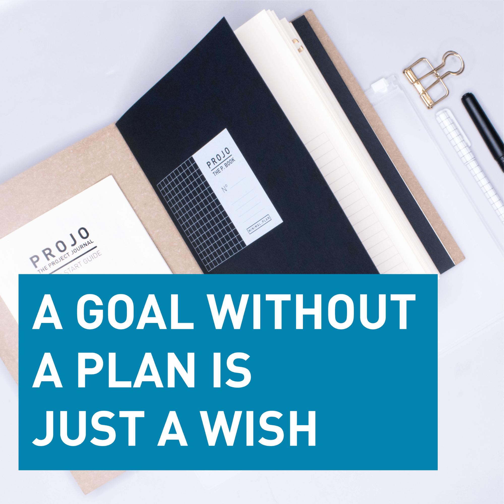 Un objectif sans plan est un rêve
