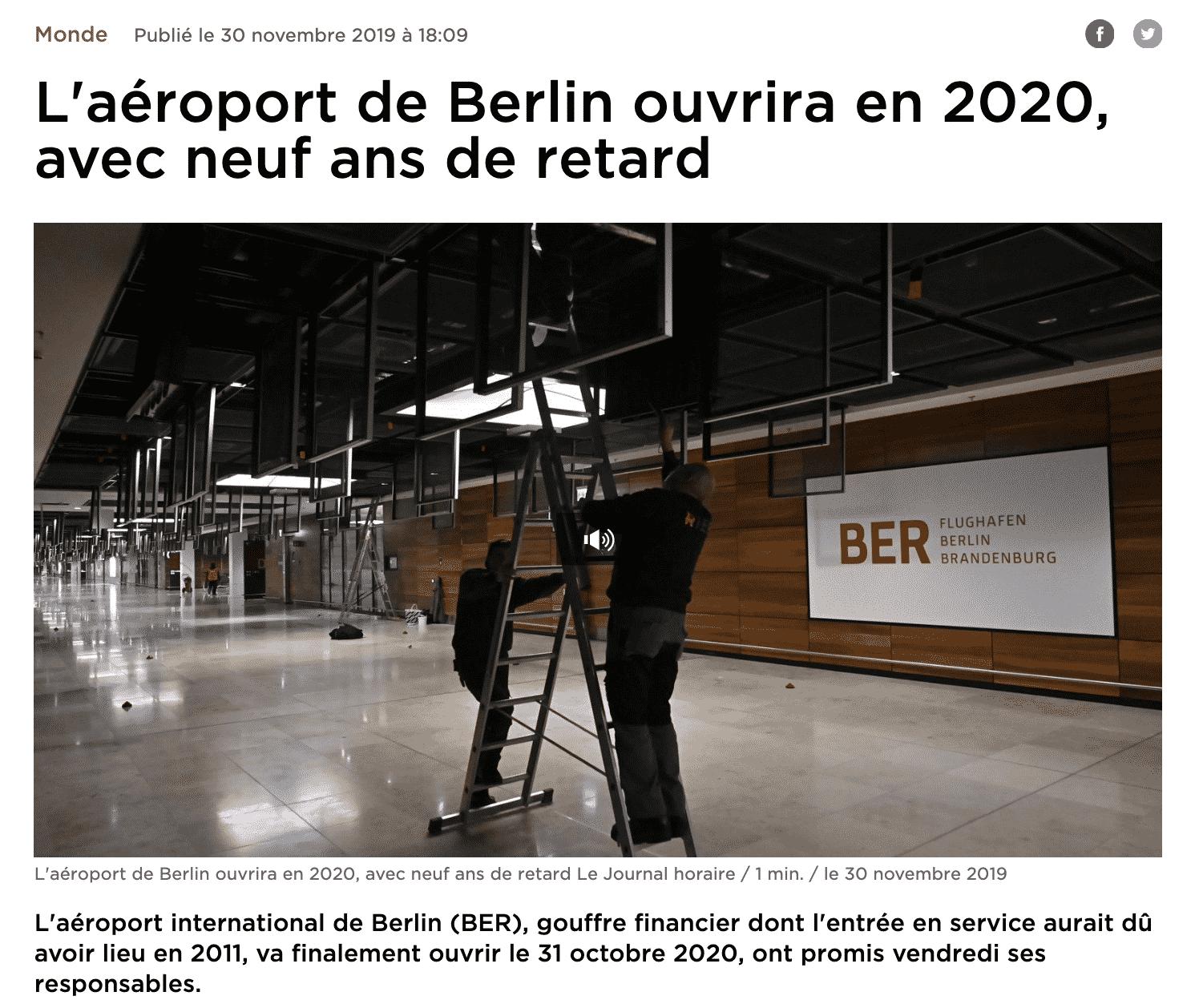 L'aéroport international de Berlin (BER)