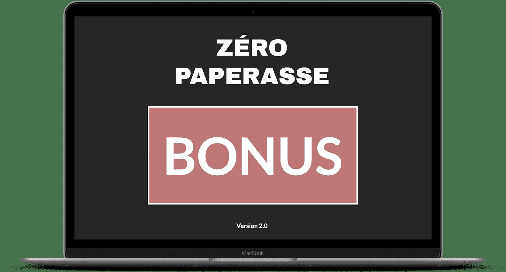 Zéro paperasse bonus