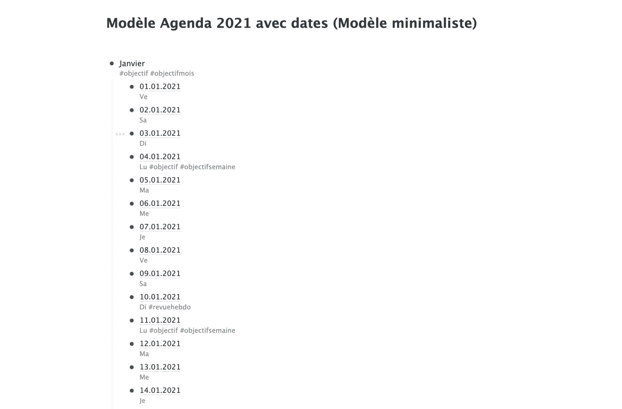 Agenda workflowy 2021