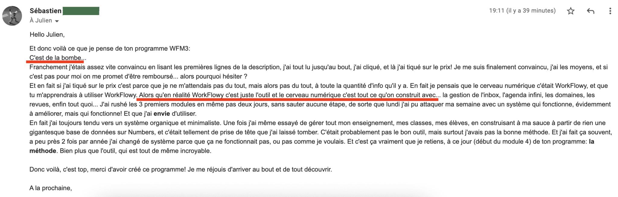 Témoignages Sébastien