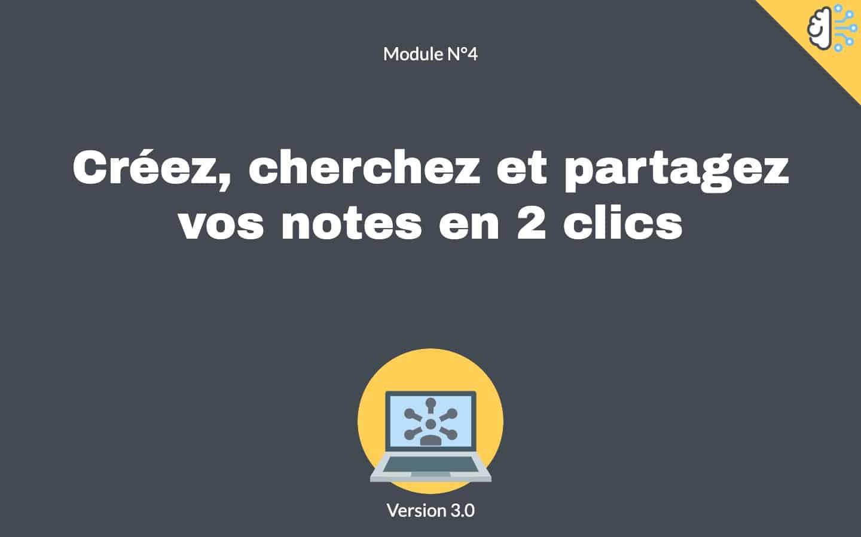 Prise de notes utiles module 4