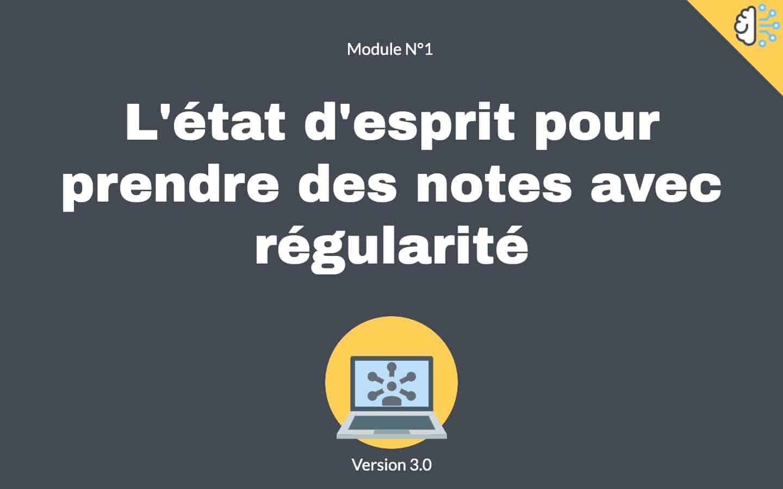 Prise de notes utiles module 1